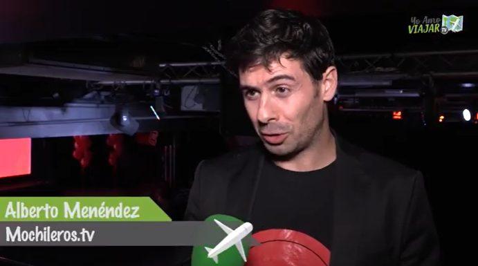 Alberto Menéndez, de mochileros.tv, habla con los microfónos de YoAmoViajar.Tv.