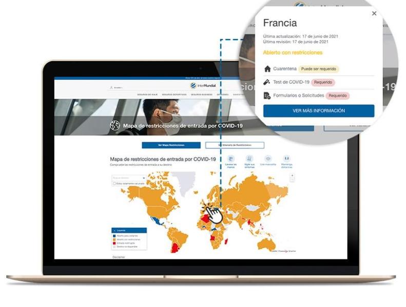 Mapa COVID interactivo de Intermundial